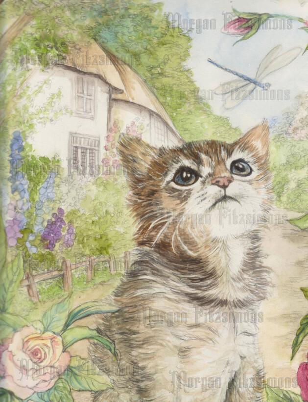 Kitten 1 Pre-Coloured - Digital Stamps