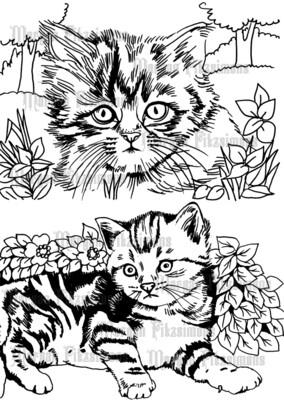 Kittens 2 - Digital Stamp