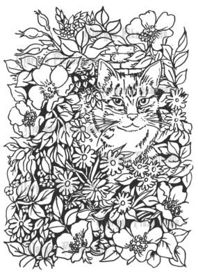 Cats 2 - Digital Stamp