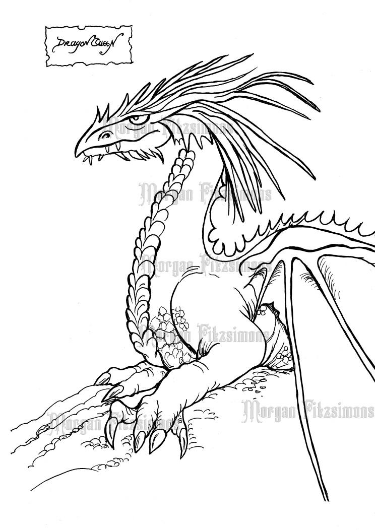 Dragon Queen - Digital Stamp