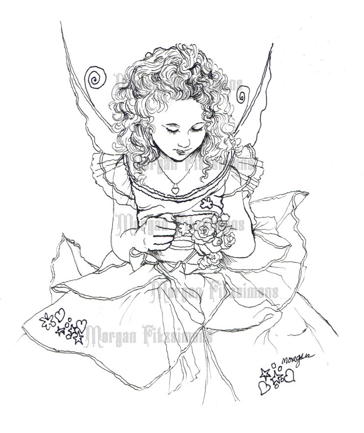 Fairy Wishes - Digital Stamp