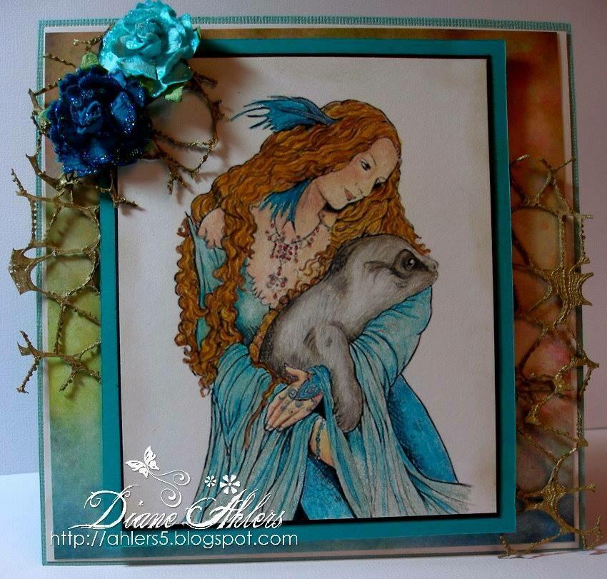 Mystical Fae Mermaid Selkie And Seal - Digital Stamp
