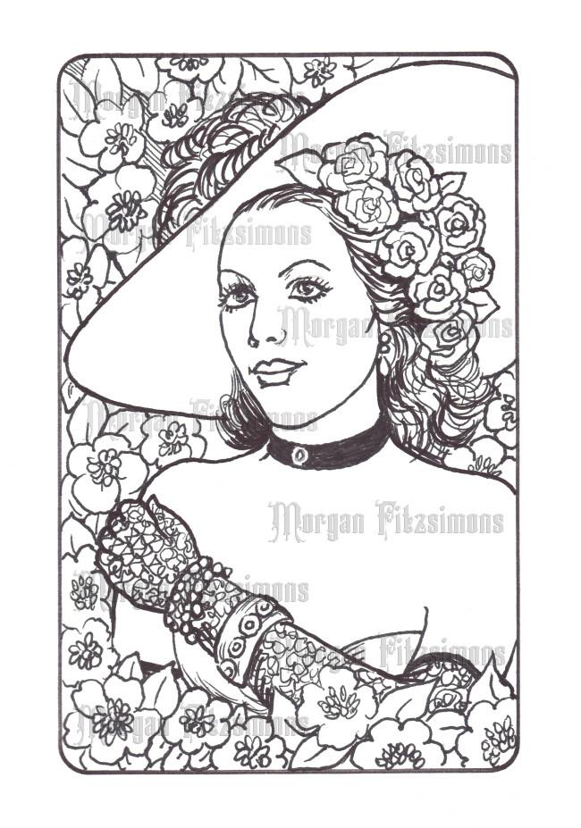 Frame Cameo 5 - Digital Stamp