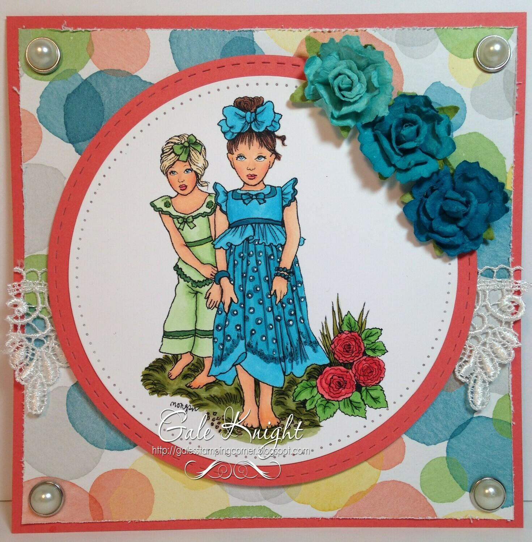 Little Sisters - Digital Stamp