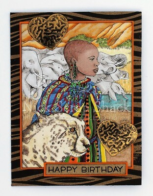 Masai Maiden - Digital Stamp