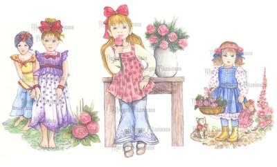 Children 1 Bundle Pre-Coloured - Digital Stamps