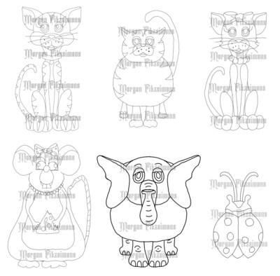 Cuties Bundle 2 - Digital Stamp