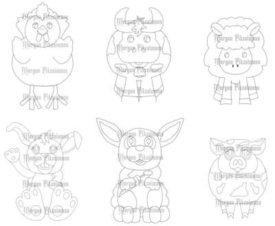 Cuties Bundle 1 - Digital Stamp