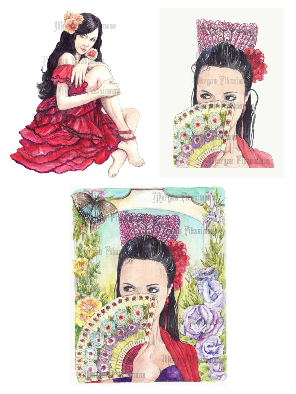 Spanish Eyes Bundle Pre-Coloured - Digital Stamps