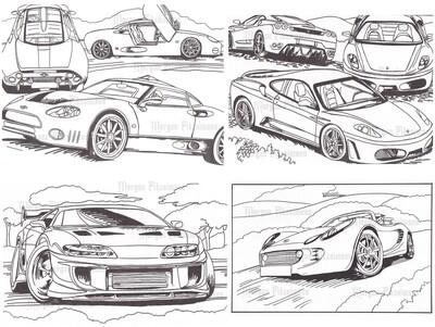 Cars Set 4 - Digital Stamps