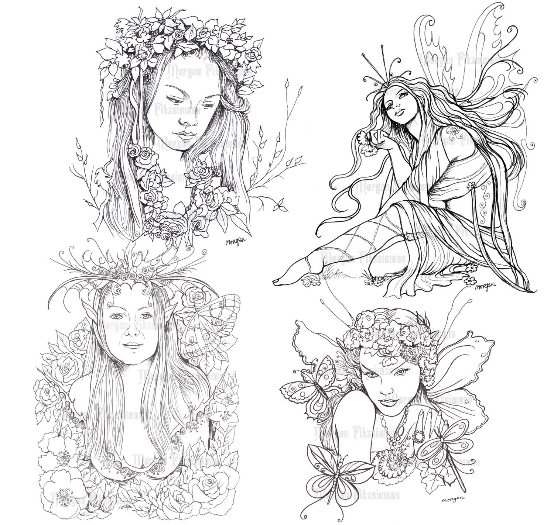 Fairy Line Set 3 - Digital Stamps