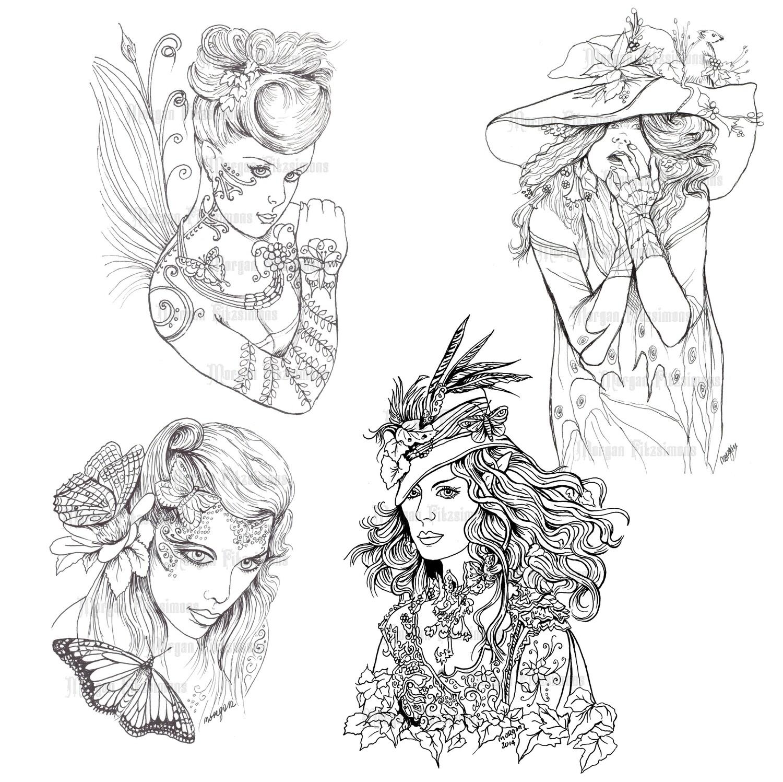 Fairy Line Set 1 - Digital Stamps