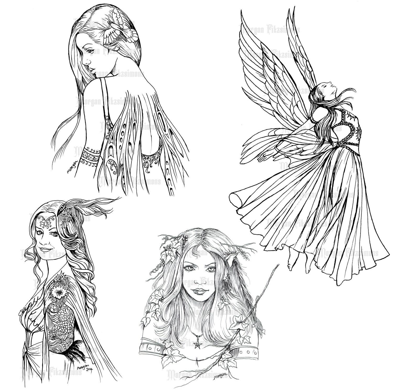 Fairy Line Set 2 - Digital Stamps