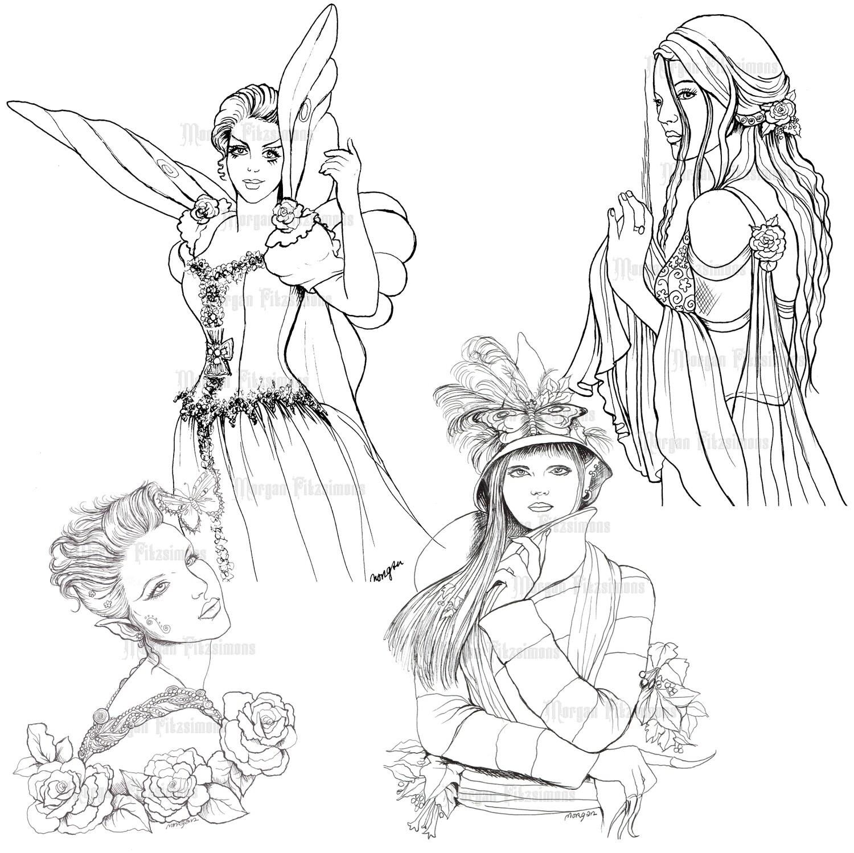 Fairy Line Set 5 - Digital Stamps