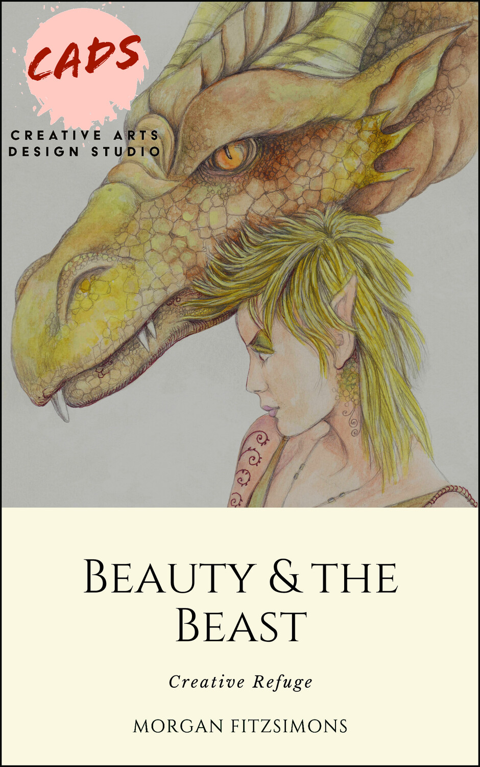 Creative Refuge Beauty and the Beast - Colouring Book