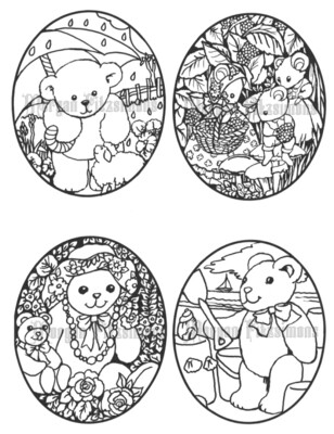 Bears and Mice - Digital Stamps