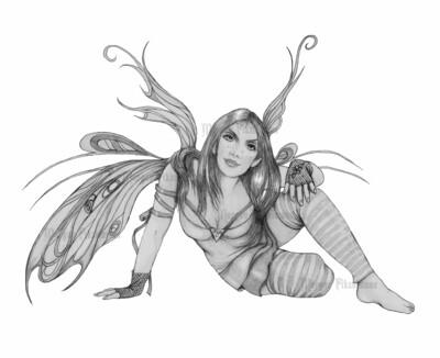 Firefly Greyscale - Digital Stamp