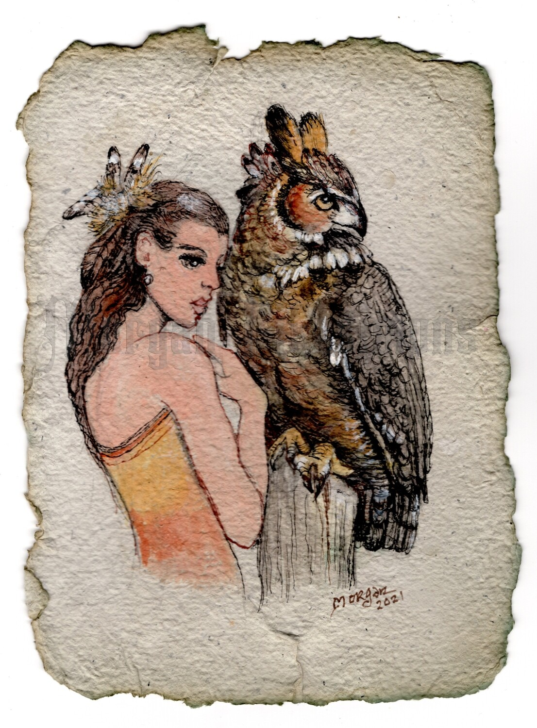 Go Wild Imagine Collection: Eagle Owl & the Lady
