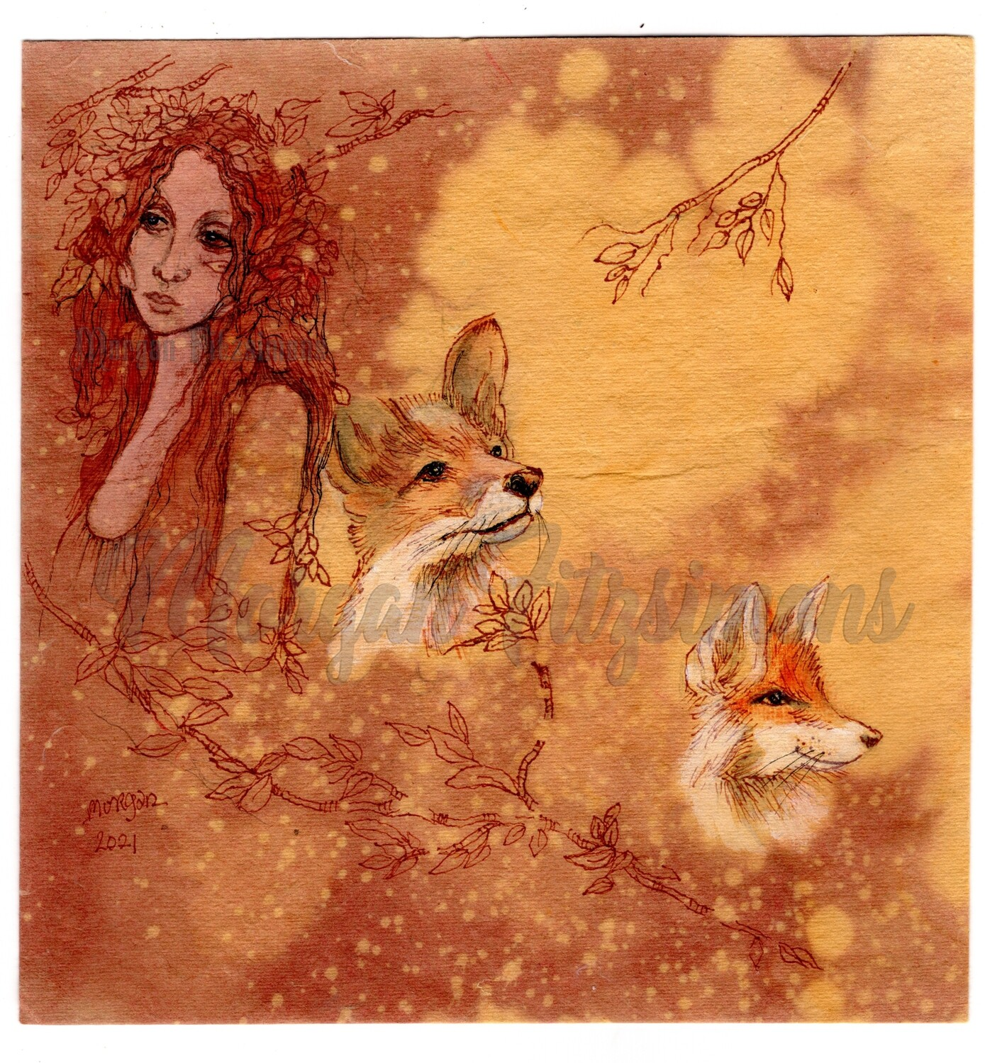 Go Wild Imagine Miniature Collection: Sionach and the Little Foxes