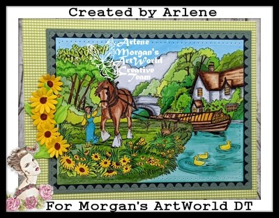 Shire Horse Canal Boats - Digital Stamp