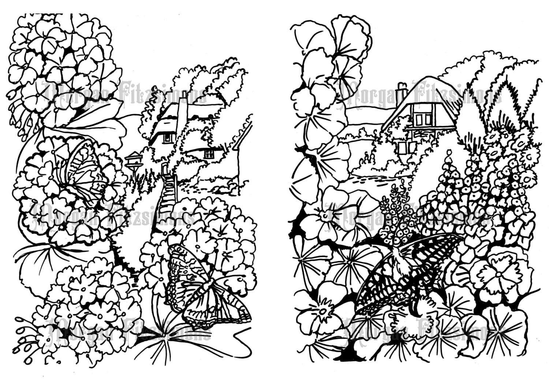 Butterfly Garden Set - Digital Stamp