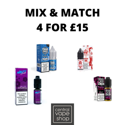 Nic Salts Mix and Match 4 for £15
