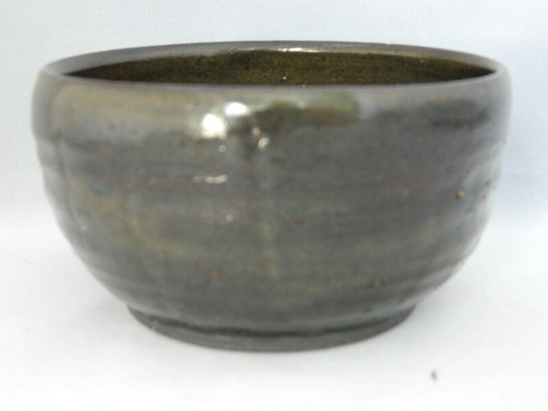 Textured Black Clay with Brown Glaze 4x2 Piece #182