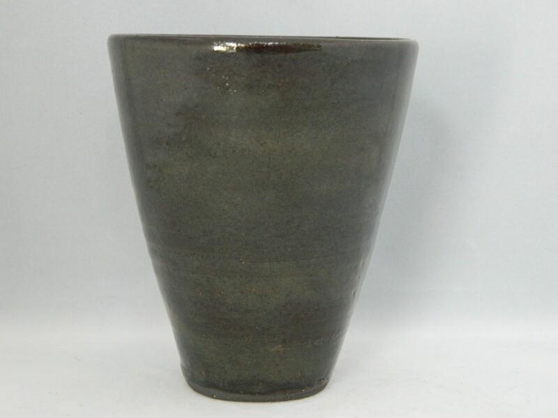 Black Clay V Cup Glazed Piece #181