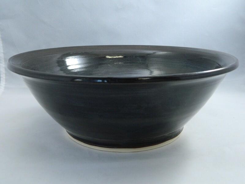 Black Silk Porcelain Serving Dish 9x3 #139