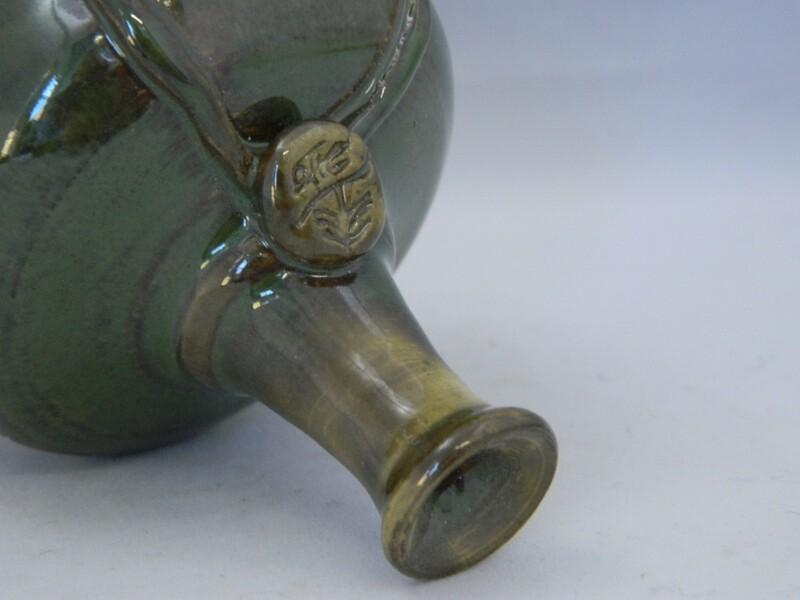 Mini Me Sea Green Mini Button Vase 2.5h Piece #127
