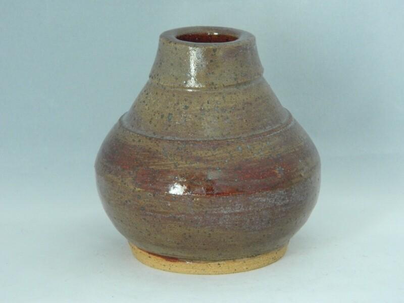 """Red Wash 3""""h on Stoneware Piece108"""