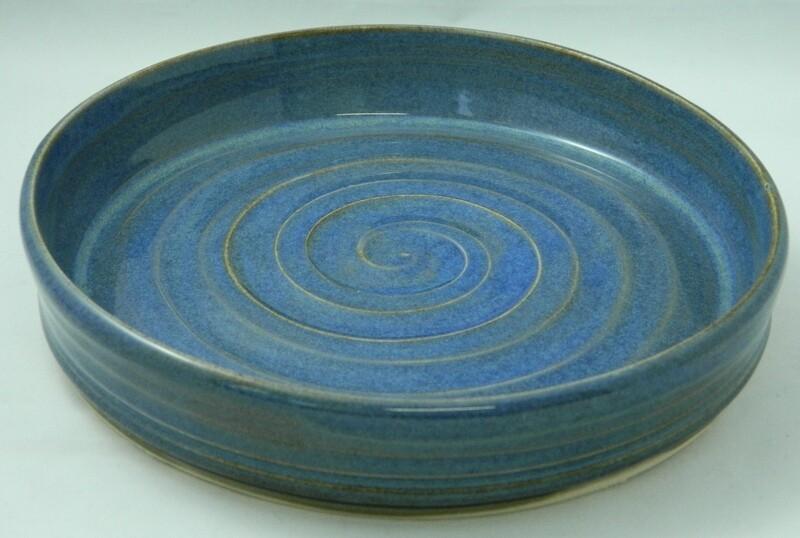 """Blue Swirl Me Up 6.5""""w Piece #94"""