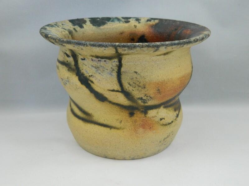Raw Saggar on Stoneware 4x5 #39