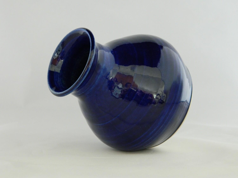 """Blue Blue Blue Fat Bottom Girl vase 4""""h slight imperfection on bottom of vase"""