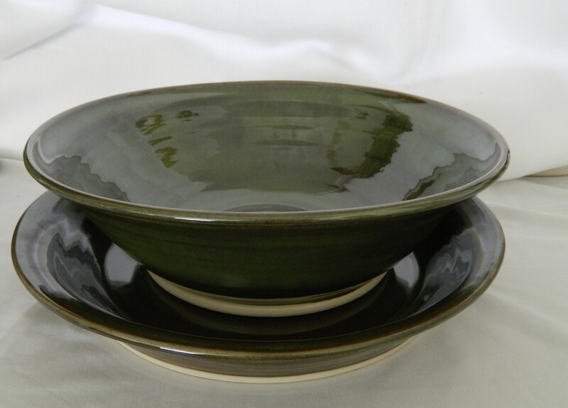 Center Piece Bowl and Platter 2pc Porcelain SET
