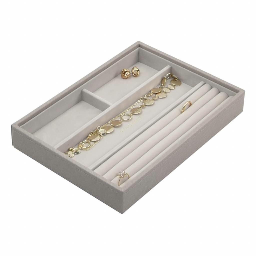 Stackers juwelenlade classic 4 vakken taupe
