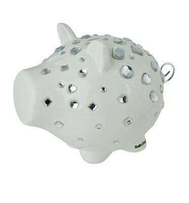 s&p spaarvarken oink white bling