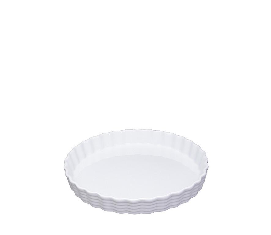 Taartvorm 28 cm porselein wit
