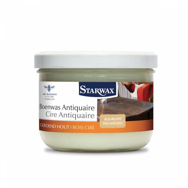 Starwax Boenwas antiquaire geboend hout (kleurloos) 375 ml