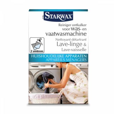 Starwax Reiniger, ontkalker was- en vaatwasmachine 2 x 1 dosis