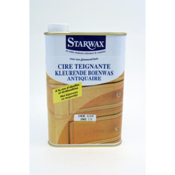Starwax Kleurt en Boent Geboend hout (midden eik) 500 ml
