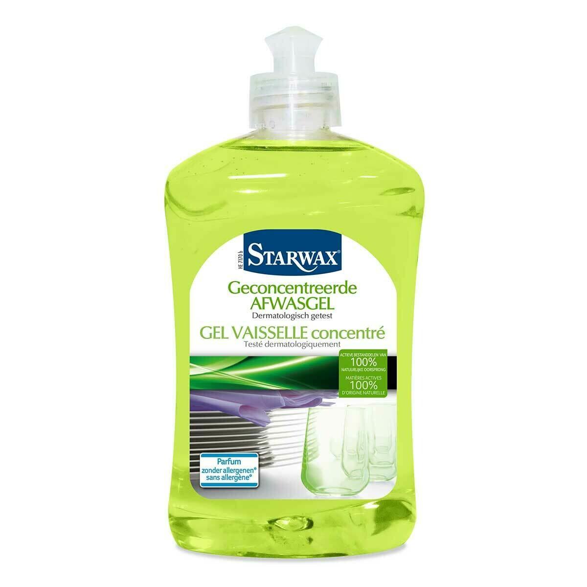 Starwax Geconcentreerde afwasgel actieve bestanddelen van 100% natuurlijke oorsprong 500 ml