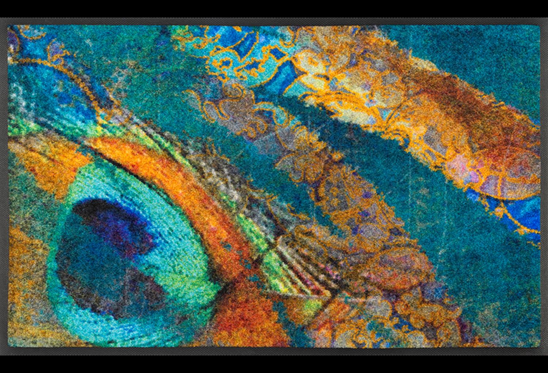 Wash+dry mat Exotic Pavo 75 x 120 cm