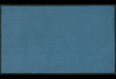 Wash+dry mat monocolor Steel Blue 40 x 60 cm
