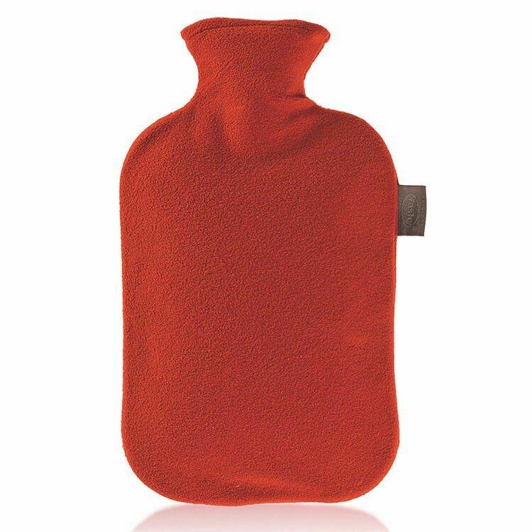 Warmwaterkruik fashy fleece rood