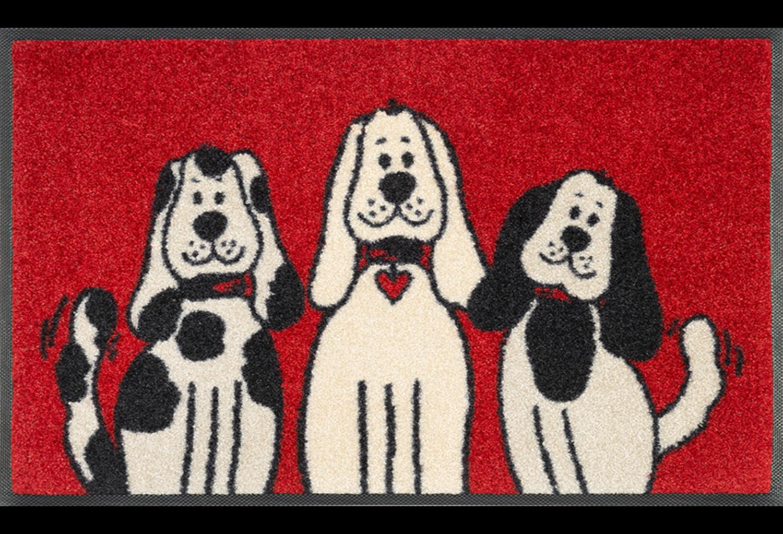 Wash+dry mat Three Dogs 50 x 75 cm