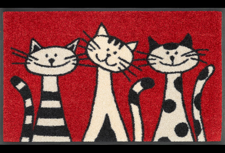 Wash+dry mat Three Cats 50 x 75 cm
