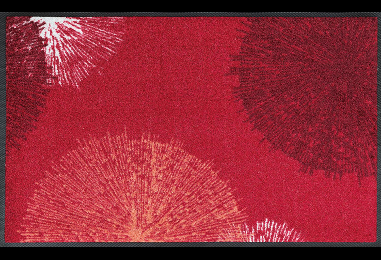 Wash+dry mat Firwork Red 50 x 75 cm