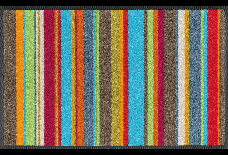 Wash+dry mat Stripes Multi 40 x 60 cm