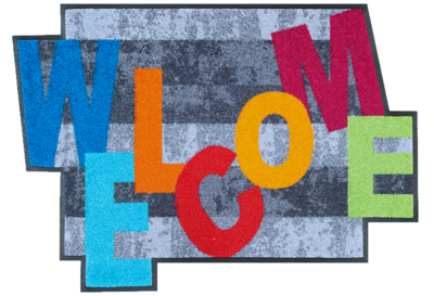 Wash+dry mat Crazy Welcome 60 x 85 shaped